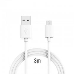 Câble Micro USB Extra Long de 2.0 m - Haute Vitesse 2.0 A pour Android, Samsung, HTC, Motorola, Nokia et plus