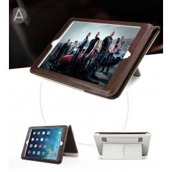 iPad 234 - Étui Cuir PU pochette carte fermeture émanté Sangle Élastique (avec Fonction Veille/Réveil Automatique)