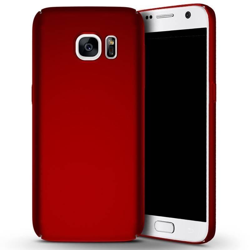 Samsung galaxy S7 - coque rigide mate rouge anti choc