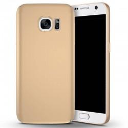 Samsung galaxy S7 - coque rigide mate golden anti choc