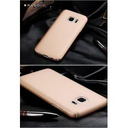 Samsung galaxy S7 - coque rigide mate dorée anti choc