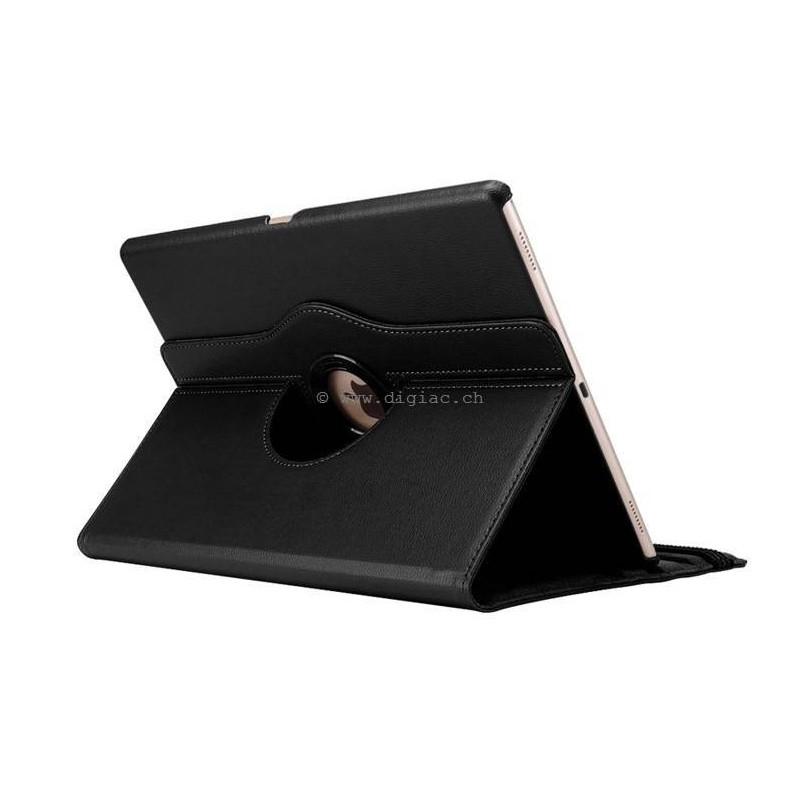 ipad Pro-étui support clapé cuir rotatif