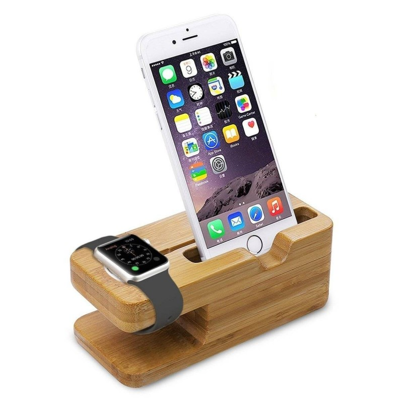 Support Bois charge Apple Watch / iWatch iPhone & Galaxy S6/S7 dege
