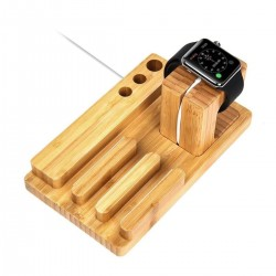 Support Bois bambou charge Holder Stand Cradle Apple Watch/iWatch/iPhone