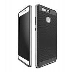 Huawei P9 - Coque solide en TPU+PC anti casse style fibre de carbone