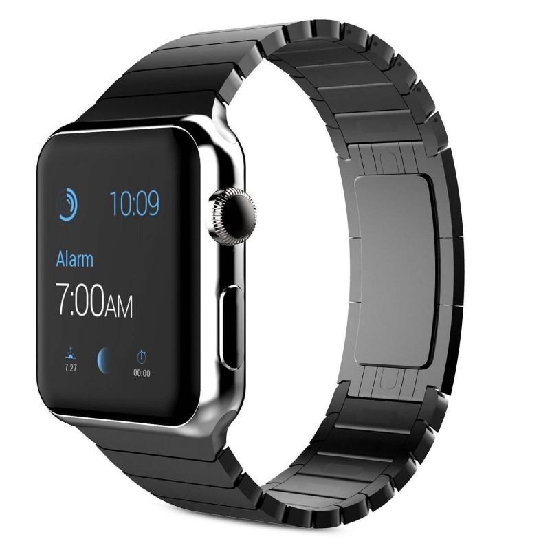 Apple watch 42mm - Bracelet Polissage inoxydable - Schwarz
