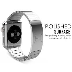 Apple watch 42mm - bracelet à maillons en acier inoxydable avec Fermoir déployante - Argent