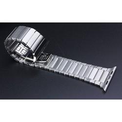 Apple watch 42mm - bracelet à maillons en acier inoxydable avec Fermoir déployante - Schwarz