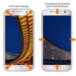 Samsung Galaxy S7 Film Protection d'écran en Verre Trempé-Fullcover