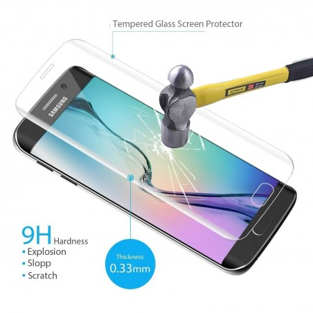 Galaxy S6 edge - Protection Plein Ecran en Verre Trempé 3D transparente