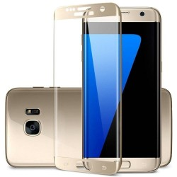 S7 edge-protection plein écran en verre trempé-or