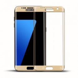 S7 edge-protection plein écran en verre trempé-or