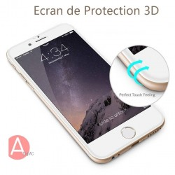 iPhone 6(s) -protection plein écran 3D en verre trempé - Blanc