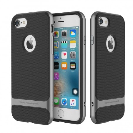 iPhone 7 - Coque Rock Royce double protection - Grise