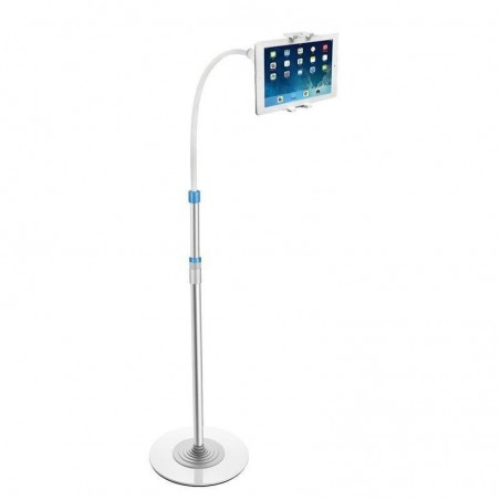 Porte-ipad sur pied avec lampe