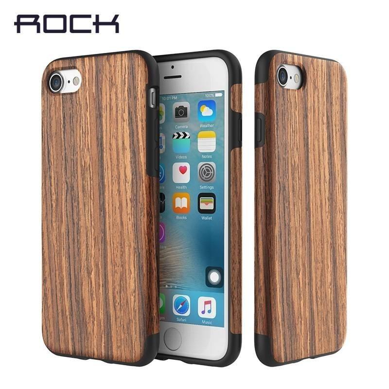 iPhone 7 plus -COQUE Rock® antichute EN BOIS