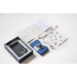 Batterie secours 10000mAh Power bank TULA support offert Batterie Portable de Secours Externe - Rayures Bleu