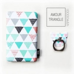 Batterie secours 10000mAh Power bank TULA support offert Batterie Portable de Secours Externe - Amour triangle