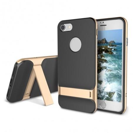 iPhone 7 plus - Coque Rock Royce avec béquille - doré