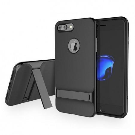 iPhone 7 - Coque Rock Royce avec béquille - Noir brillant