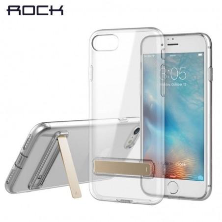 iPhone SE(2020)/8/7- Etui coque ROCK avec béquille - Transparente
