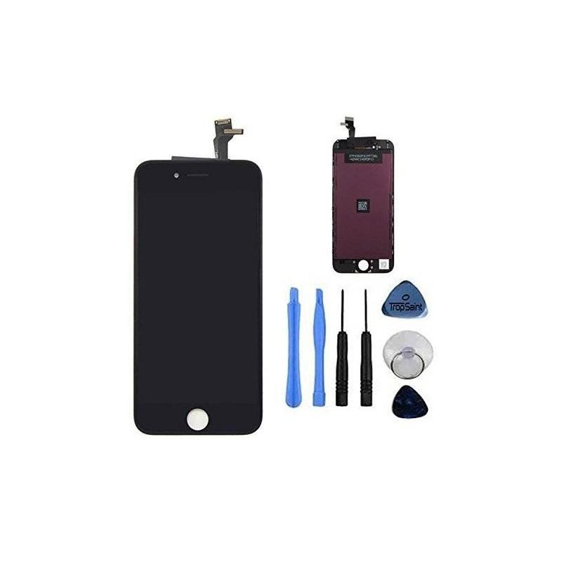 kit de r paration cran complet iphone 6s plus blanc noir. Black Bedroom Furniture Sets. Home Design Ideas