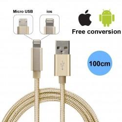 Chargeur Câble pour Micro USB et Lightning