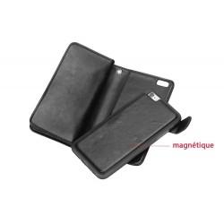 iphone 6 / 6s - Porte Monnaie coque détachable similicuir