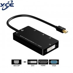 Mini DisplayPort vers HDMI/ DVI/ VGA - Adapter câble 3 en 1