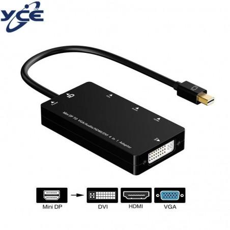 Mini DisplayPort vers HDMI/ DVI/ VGA - Adaptateur câble 3 en 1