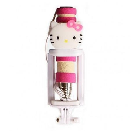 Support Universel selfie stick Hello kitty pour Smartphones Gopro camera