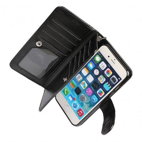 iphone 7/8 - Porte Monnaie coque détachable similicuir