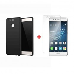 Huawei P9 - Kit protection (coque mate + Protection d'écran en Verre)