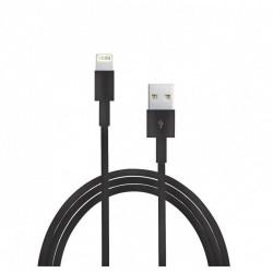 Câble Lightning classique vers USB 1 mètres - Noir