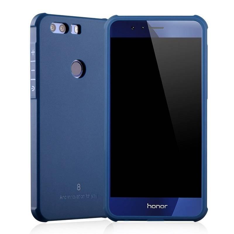 Huawei Honor 8 - Coque solide en silicone semirigide Noir