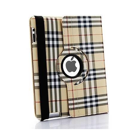 iPad mini - étui support similicuir rotatif style anglais