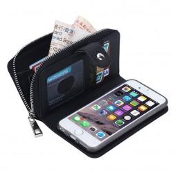 iPhone 6/6s - Porte Monnaie pochette similicuir- NOIR