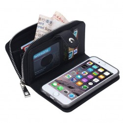iPhone 6(s) plus - black coin wallet