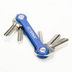 KeyStax Porte-CLé 8 clés max - Bleu
