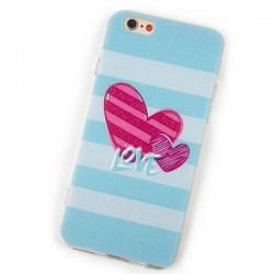 Coque en TPU Anti-Poussière pour iPhone 6/6s - style amoureux