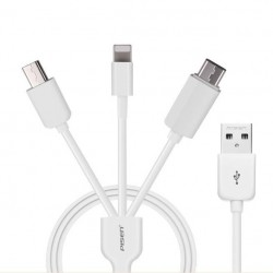 Câble chargeur USB PISEN 3 en 1 pour iphone4/5/6 ipad 4 air samsung sony xperia tablette
