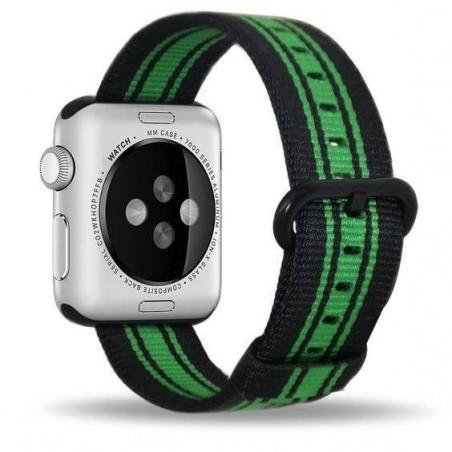 Apple Watch 42mm - Bracelet nylon rayure