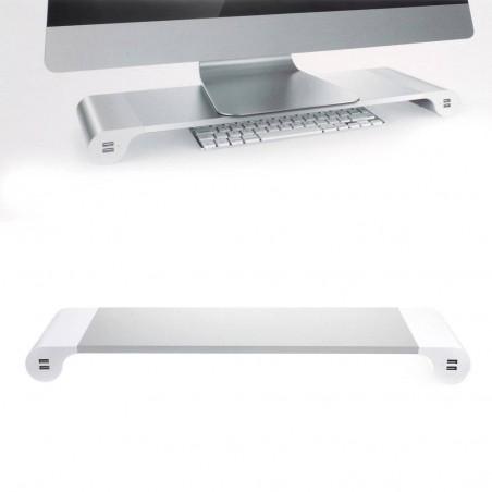 Support Moniteur d'Ordinateur avec 4 Ports USB