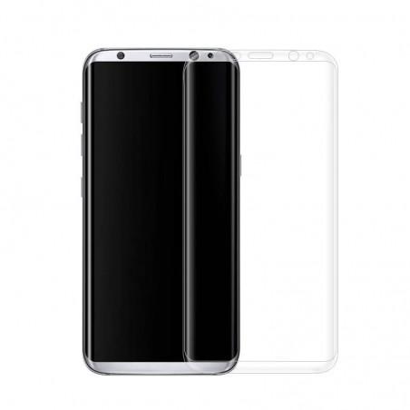 Galaxy S8 -protection plein écran en verre trempé-transparent