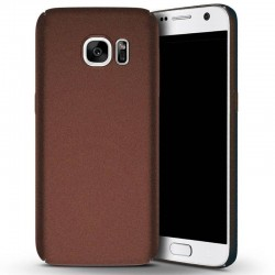 Galaxy S7-Coque mate grain brune