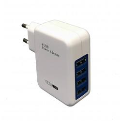 Prise chargeur secteur rapide avec 4 ports USB 15W