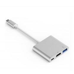Chargeur Adaptateur Type C USB 3.1 Hub USB-C vers USB 3.0/HD