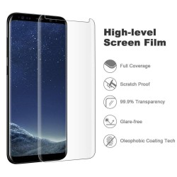 Galaxy S8 / S8 plus-Protection écran Verre 3D version réduite - transparente