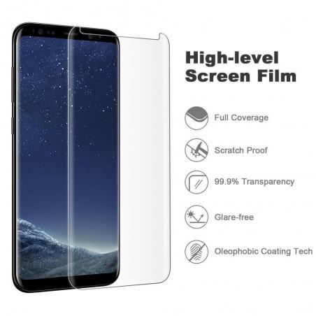 Galaxy S8 / S8 plus-Protection écran Verre 3D version réduite - transparente