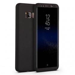 Galaxy S8/S8 plus - Kit 2 pièces Coque Integrale mate noire